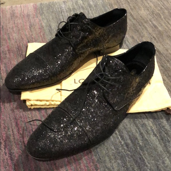 Louis Vuitton Shoes Black Glitter Lace Up Poshmark